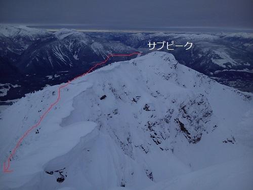 山頂から見たサブピーク.jpg